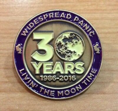 Widespread Panic Pin - 30th Anniversary GOLD LE/50 (Not Poster or Tickets)