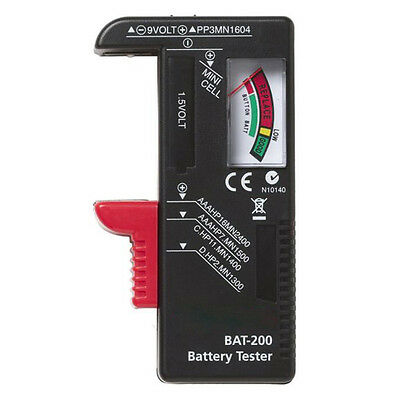 New Indicator Universal Battery Cell Tester AA AAA C/D 9V Volt Button Checker