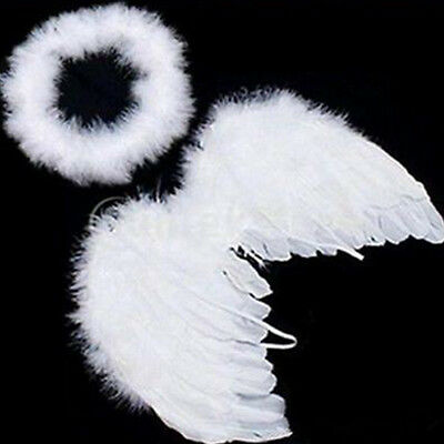 Baby Kids White Angel Wings Feather for Party Decor And for Photo Prop