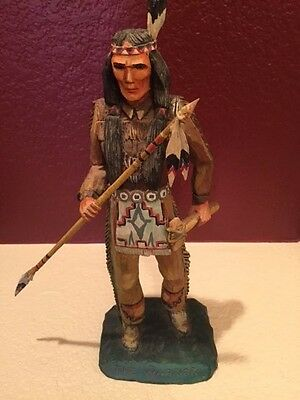 Dee Flagg Woodcarving cowboys and Indians hand carved by the master sale is on