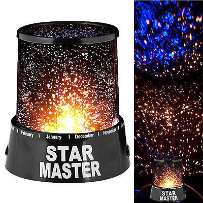 4LED Starry Night Sky Projector Lamp Kids Gift Romantic Star light Cosmos Master