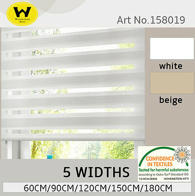 MODERN  zebra double roller blinds commercial quality many colours