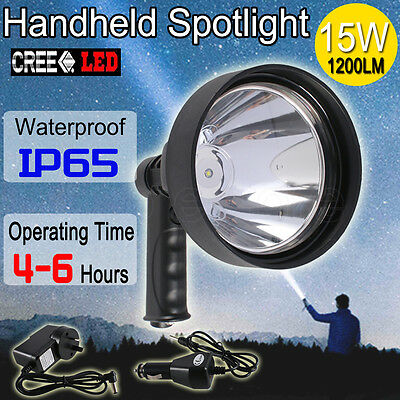 15W CREE Camping Hunting Shooting Handheld Spot Light Rechargeable LED Spotlight