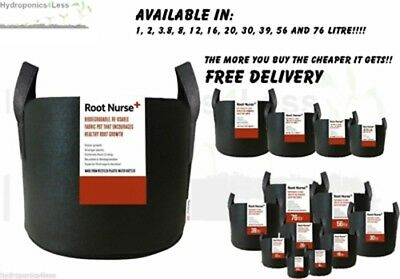 Root Nurse Fabric Pot Black Smart Grow Aeration Container Bag Pouch Hydroponics