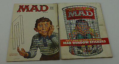 2 Vintage Mad Magazine Back Issues March 1965 & 1962 Fith Annual With Insert