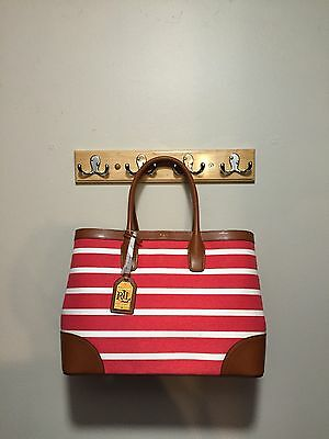 NWT RALPH LAUREN Fairfield City Shopper Red Satchel Convertible ... 74ce49988d