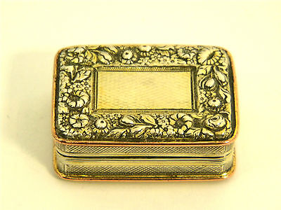 Antique Georgian Geo. Iii Solid Silver Gilt  Vinaigrette London 1818