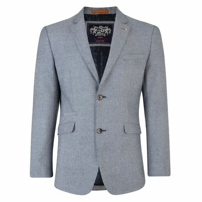 Lambretta Mens Herringbone Smart Formal Wedding Groom Prom Blazer Jackets
