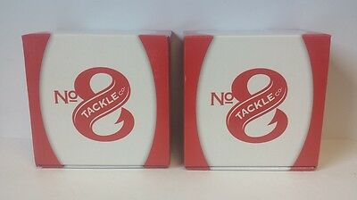No. 8 Tackle Co. Candy Apple Red Casting Reel *LOT OF 2*