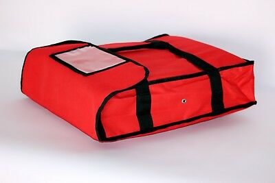 """NEW Pizza Food Delivery Bag Red Thermal Insulated NYLON holds 2 16"""" Pizzas Pies"""