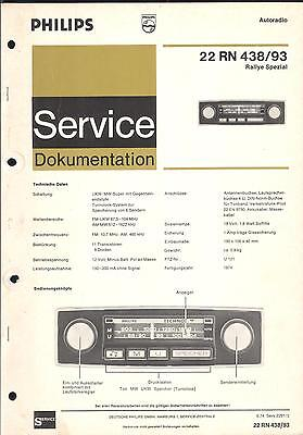 Philips Original Service Manual für  CAR 22RN438/493  22 RN 438 493