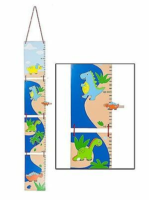Blue Dinosaur Children's Height Chart Growth Measure Boys Nursery Bedroom