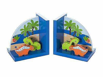 Dinoaur Bookends NURSERY CHILDRENS KIDS WOODEN BEDROOM Mousehouse