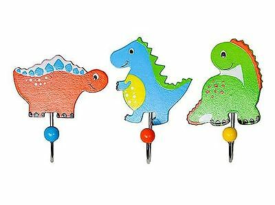 Dinosaur Coat Door Clothes Hooks Baby Nursery Kids Boys Girls Bedroom Decoration