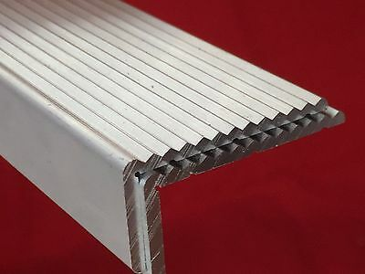 Aluminium Angle one side  Fluted - Anti Slip Trim Stair Nosing Heavy Duty