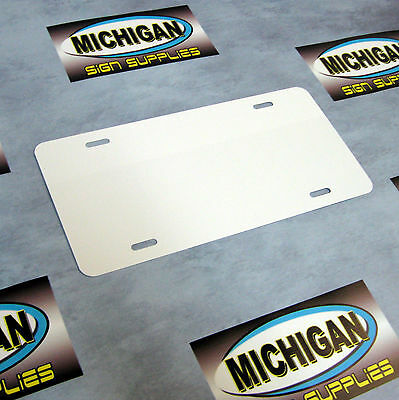 10 Pack of White .024 Aluminum License Plate Blanks **Create Your Own Designs**