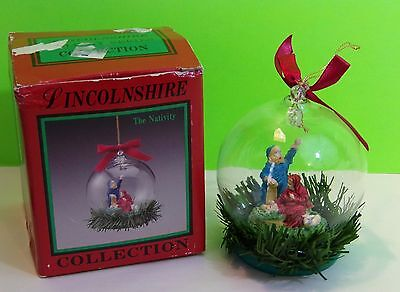 Vintage Lincolnshire THE NATIVITY Collectible Christmas Globe Ornament