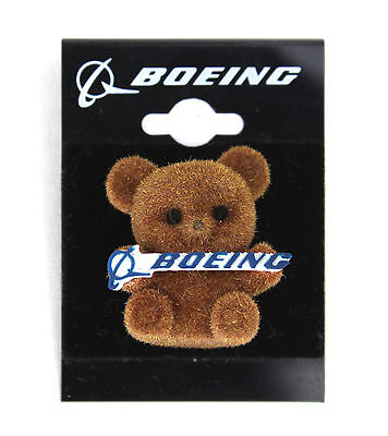 Boeing Cuddly Bear Collectible Pin Badge - Rare Promotional - Aircraft Aeroplane