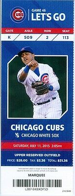 2015 Cubs vs White Sox Ticket: Chris Sale outpitches Jon Lester