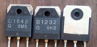 2 Pairs D1842 B1232 2SD1842 2SB1232 100V/40A Switching Applications TO-3P New