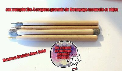 Set of 4 Magic Cleaning Pencils Uncleaned Ancient Roman & Greek Coins.