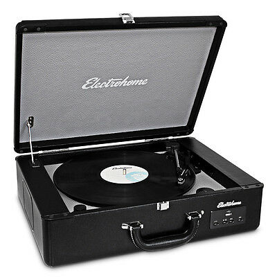 Electrohome Vinyl Record Player Classic Turntable with Built-in Speakers
