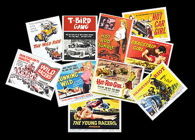 Vintage Rock n Roll Movie Poster Retro Image Postcards Set of Ten 50's re-prints