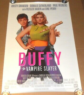 6271398651c VINTAGE MOVIE POSTER Buffy The Vampire Slayer ORIGINAL Double Sided ...