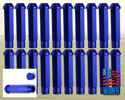20 PCS Giant Spear XL Wheel Lug Nut M12x1.5 Blue For Chrysler Mercuty Oldsmobile