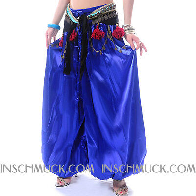 C57 Belly Dance Costume Trousers of very fine Satin Tribal Fusion inschmuck