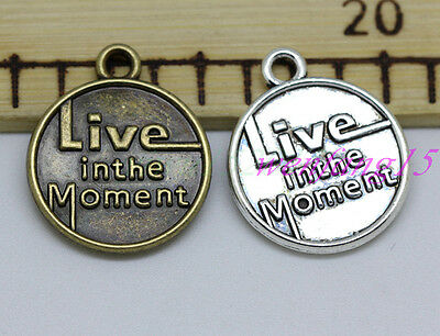 Jewelry finding Tibetan silver round Time Life pendant 10-150pcs 24x20mm 2.6g