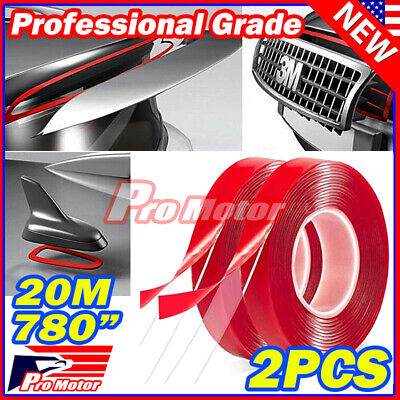 """390"""" Double Sided Adhesive Foam Sticky Tape Clear Transparent Car Truck Auto 3M"""