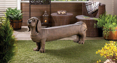 Dachshund Doggy Bench Chair Yard Garden Deck Patio Outdoor Seat CLEARANCE