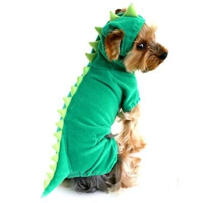 Dinosaur Hoodie Costume Dog Clothes Pet Jacket Coat Puppy Cat Costumes Apparel