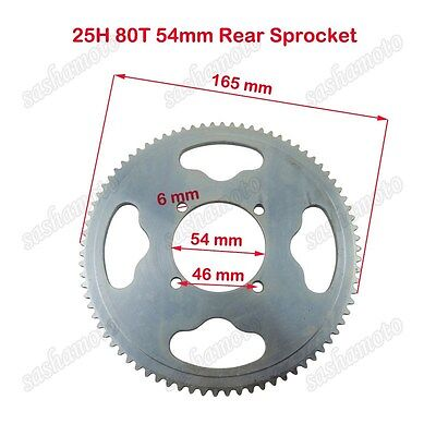 25H 80T 54mm Rear Chain Sprocket 47 49cc Mini Dirt Pocket Bike ATV Goped Scooter