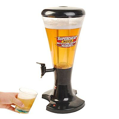 Draft Beer Tower Dispenser Plastic 3L Ice with LED Lights New