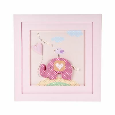Picture Frame Elephant Design Wall Hanging Baby Girl Nursery Mousehouse