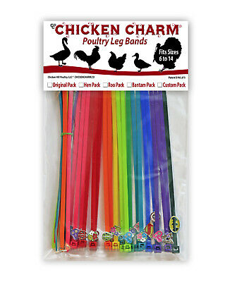 Bonus Pack 23 Chicken Charm ® Poultry Leg Bands ~Fits Chickens,Geese,Ducks