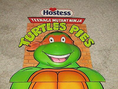 Hostess Teenage Mutant Ninja Turtles TMNT Pies 6 Foot Cardboard Store Display