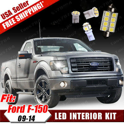 13x White LED Bulbs Interior Light Package Kit For 2009-2014 Ford F150 250 350