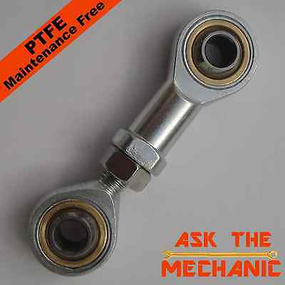 1 Pair of M6 Rod Ends LH Thread Male & Female Rose Joint Tie Track Rod – T6L