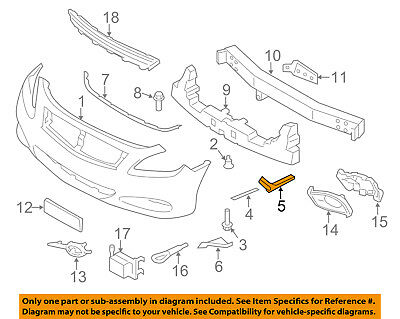 INFINITI OEM 08-13 Coupe G37 Front Bumper-Side Mount Bracket