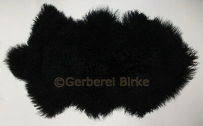 Tibet Sheepskin Lambswool like Gotland black colored from the Tannery Birch tree