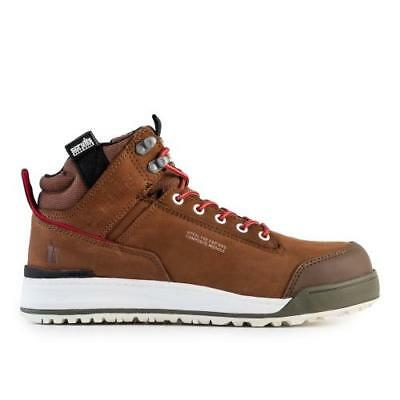 Scruffs SWITCHBACK BROWN Safety Hiker Work Boots (Sizes 7-12) Mens Steel Toe Cap