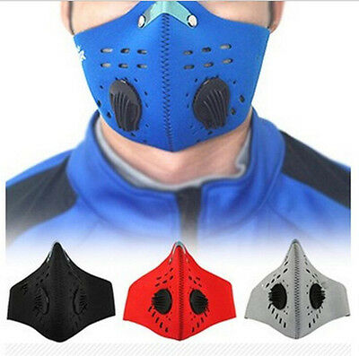 PM2.5 Gas Protection Filter Respirator Dust Mask Head Cycling