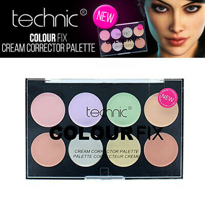 Technic Couleur Fix Cream Corrector 8 Shade Makeup Palette - Concealer Kit