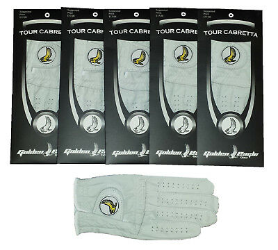 New 4 Pack 100% Cabretta Leather Golden Eagle Golf Glove Lady Right Hand Medium