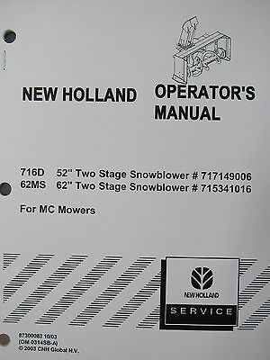 BR770 /& BR780 OPERATOR/'S MANUAL #86978622 BR750 NEW HOLLAND BR740