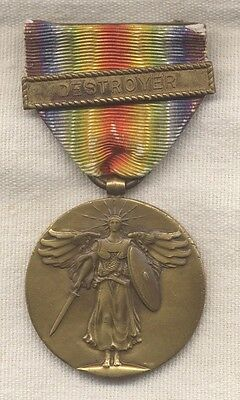 WWI US Navy Victory Medal with Destroyer Bar