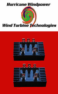 Set of 2  - Rectifier for 3-Three Phase AC Wind Generator Heavy 100 Amp
